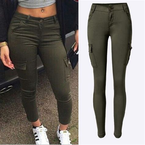 Joan Green 2016 new fashion army green low rise
