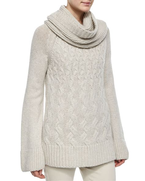 chunky cable knit sweater loro piana chunky cable knit tunic sweater in