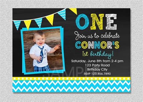 sample invitation card   birthday boy