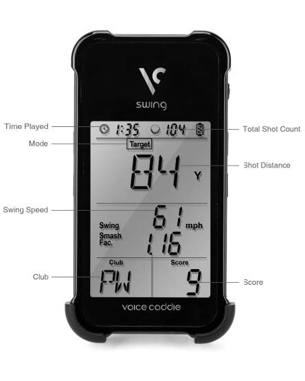 swing caddie sc100 reviews voice caddie swing caddie portable launch monitor by voice