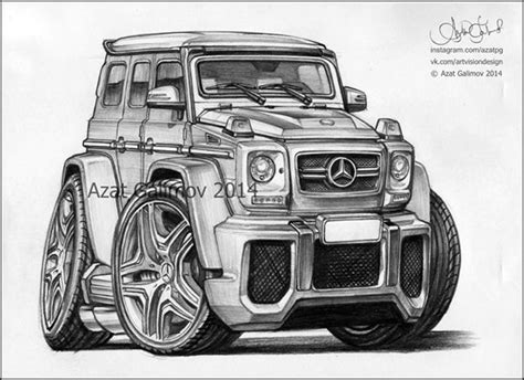 G Wagon Sketches by Mercedes G Class Gelandewagen Artist Azater