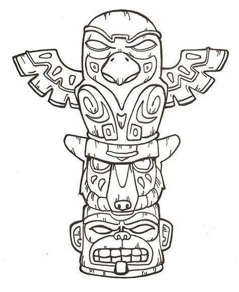 totem tattoo designs printable totem pole coloring pages coloring me