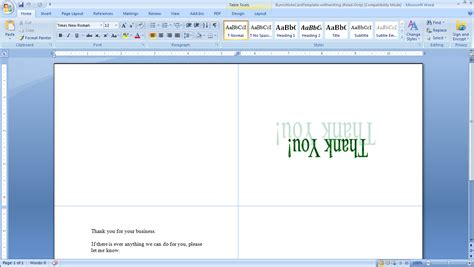 free greeting card template word 2007 how to print your own tent cards in microsoft word