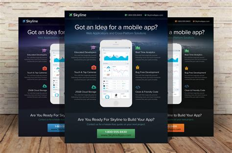 mobile app flyer template by xstortionist on deviantart