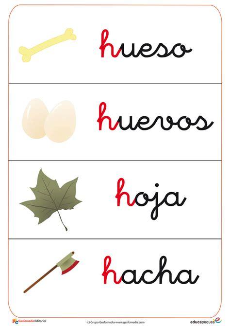 imagenes q empiecen con la letra h fichas de letras y vocabulario con la letra h