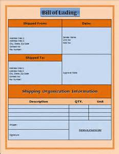 bill of lading template word bill of lading template free microsoft word templates