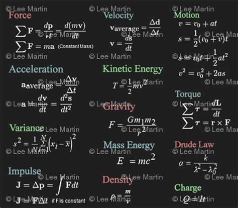 physics formulas on grey wallpaper jabiroo spoonflower