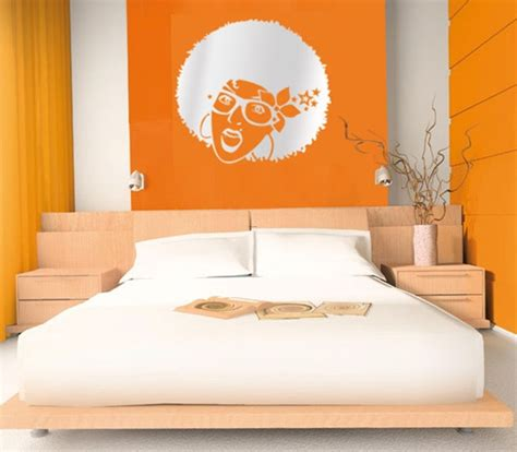 what colors go with orange 10 bedrooms in a vibrant orange colour
