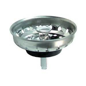 replacement fixed post sink strainer basket stainless