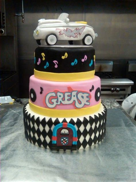 theme cake decorations grease photos grease themed cake best cake
