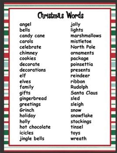 christmas words that start with n 17 best ideas about words on words free printables and