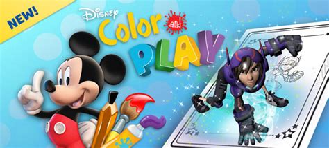free disney color play app and free coloring page
