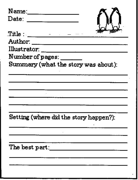 8 book report template 3rd grade printable receipt