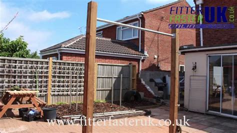 Diy Backyard Pull Up Bar How To Build A Pull Up Bar In Your Garden Youtube