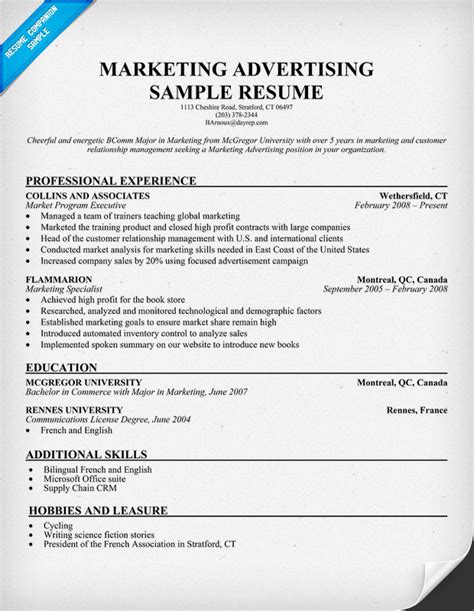 advertising resume exles 28 images advertising