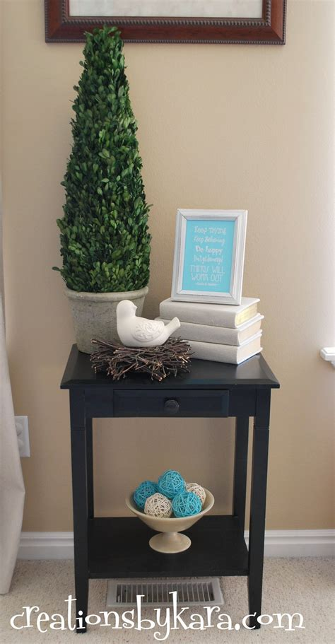 diy livingroom decor diy decorating living room table creations by kara