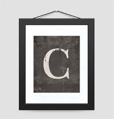 free printable rustic letters rustic monogram letter print wall art and decor select