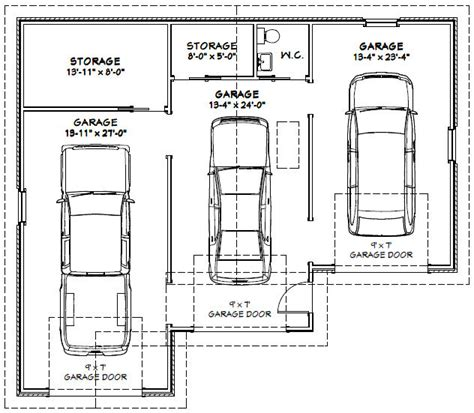Size Of A Three Car Garage | garage dimensions google search andrew garage