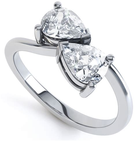 2 pear shaped ring