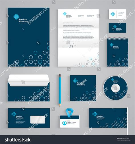 Branding Design Template Corporate Identity Branding Template Abstract