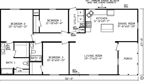 attractive 3 bedroom single wide mobile home floor plans