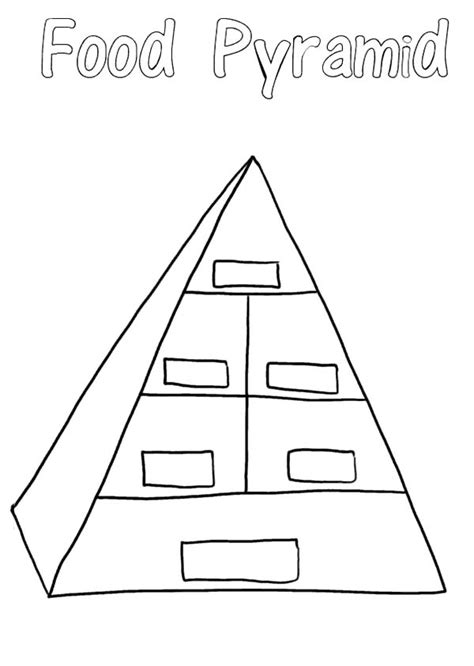 color pyramid free coloring pages of pyramid food