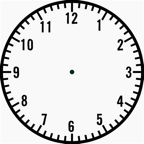Printable Handless Clock | analog clock without hands group 58