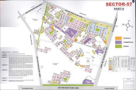 layout plan sector 52 gurgaon huda gurgaon sector 57 map layout master plans india
