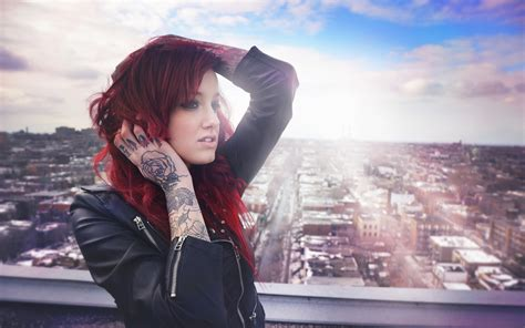 wallpaper tattoo tumblr red hair tattoos girl wallpaper 1920x1200 resolution