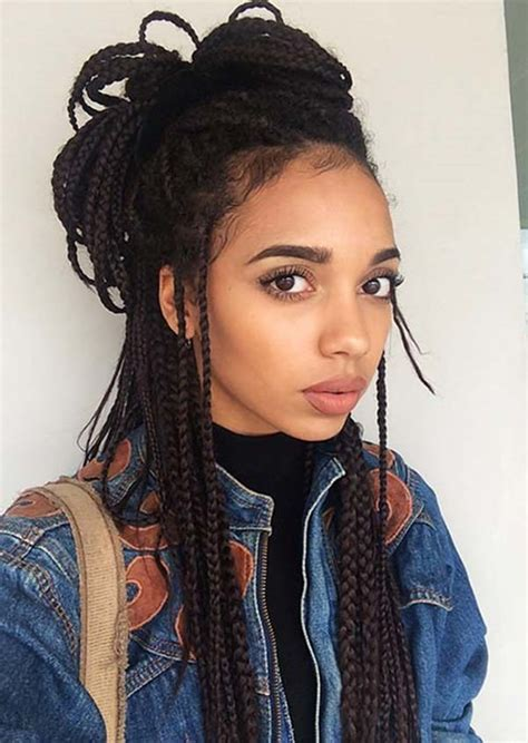 Boxed Braids Hairstyles by 55 Of The Most Beautiful Jumbo Box Braids To Inspire Your