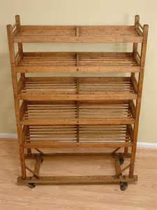 Vintage Wooden Bakers Rack Antique Wood Portable Baker S Rack Display Rack