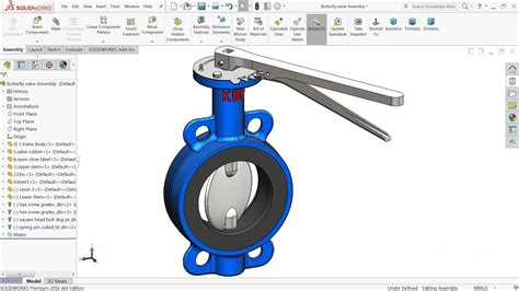 tutorial solidworks cam solidworks tutorial design of butterfly valve in