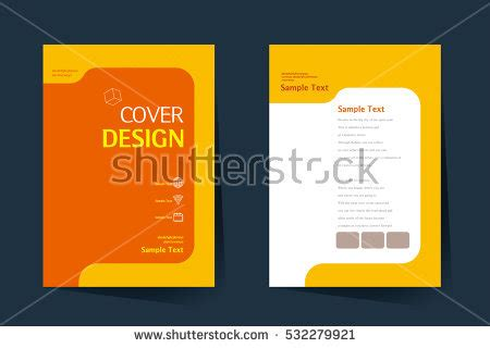 book cover design vector template a4 stock vector