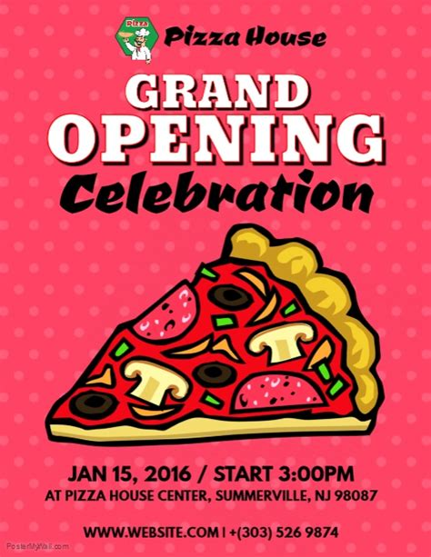 opening soon flyer template grand opening pizza flyer template postermywall