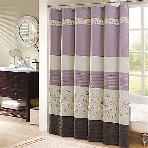 bed bath and beyond madison buy madison park serene 72 inch shower curtain in purple
