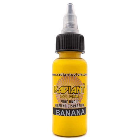 radiant tattoo ink ink radiant colors banana