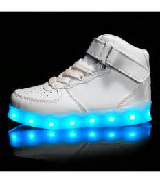 light up shoes for toddlers glidekicks juniors white high tops led sneakers