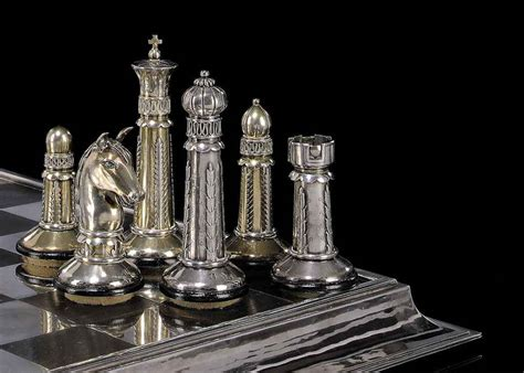 deco chess set an deco german silver and silver gilt chess set and silver board the board with of
