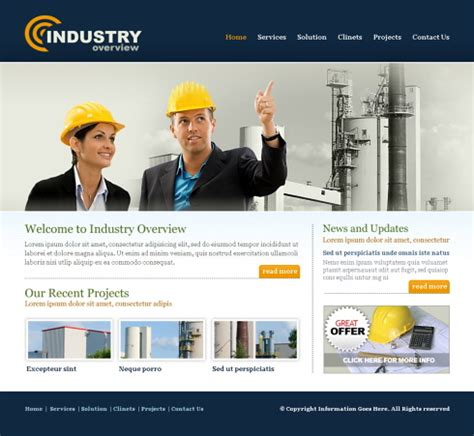 Templates For Construction Website | industry website template 5701 construction