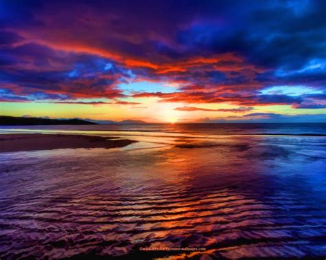 wallpapers beach colorful beach sunset pictures sunset beach scotland beautiful