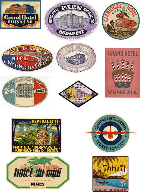 Tas Travel Pouch Decals 0 1 Cb vintage style travel suitcase luggage labels set of 12 vinyl stickers set 3 ebay