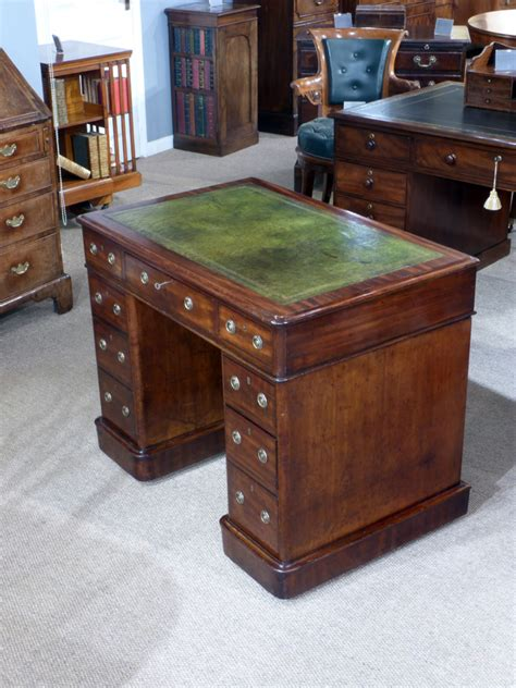 small antique desk small pedestal desk antique desk leather top desk
