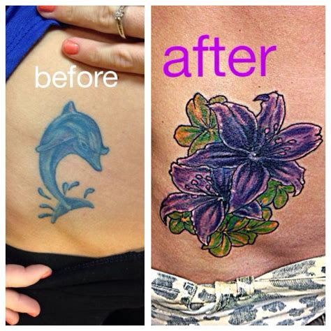 flower tattoo cover up a dolphin ask for joker at