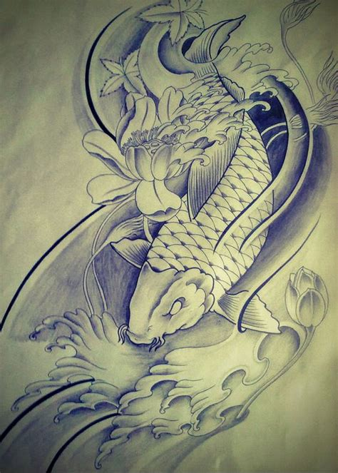 koi dragon sleeve tattoo designs koi fish fish tattoos and koi on
