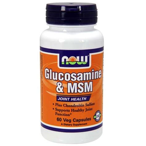 food with glucosamine now foods glucosamine and msm 60 capsules evitamins new zealand