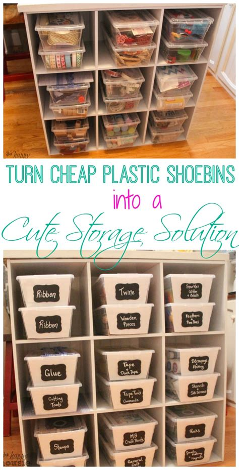 cheap storage solutions turn clear plastic shoe bins into cute cheap storage solutions the happy housie