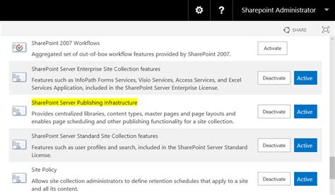 how to activate publishing feature using powershell in sharepoint