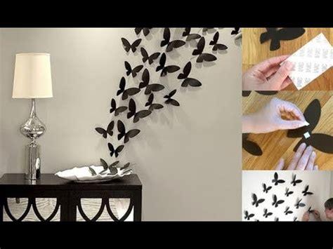 diy dekorasi kamar  hiasan kupu kupu  kertas