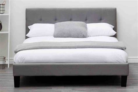 Blenheim Grey Charcoal Fabric Upholstered Bed Frame Single Size Of A Bed