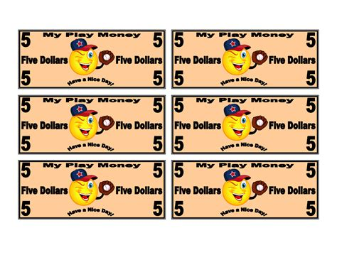 free money template printable play money 2 coloring